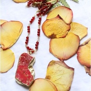 Red Sea Sediment Jasper Carnelian Necklace